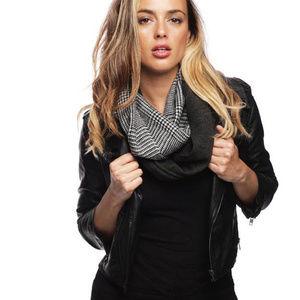 Glen Check Half Knit Infinity Scarf